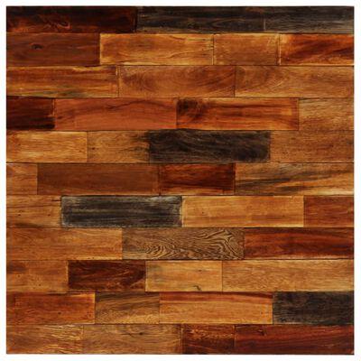 vidaXL Bargrupp 3 delar massivt återvunnet trä och äkta getskinn