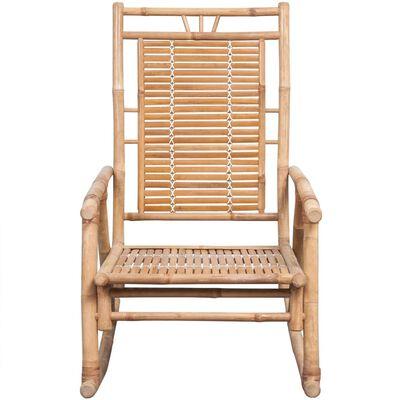 vidaXL Gungstol med dyna bambu