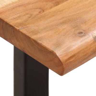 vidaXL Bänk med levande kant 160 cm massivt akaciaträ och stål