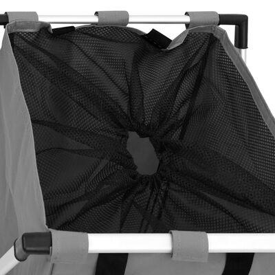 vidaXL Tvättsorterare grå