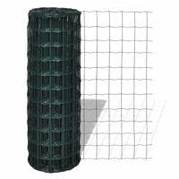 vidaXL Eurofence stål 10 x 1,0 m grön