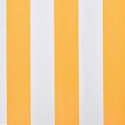 vidaXL Markisduk orange & vit 500x300 cm