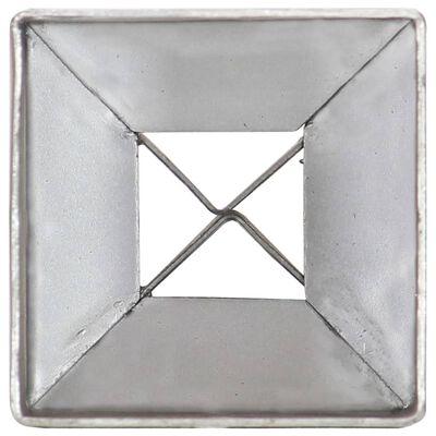 vidaXL Jordspett 2 st silver 7x7x75 cm galvaniserat stål