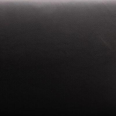 vidaXL Hörnsoffa konstläder svart