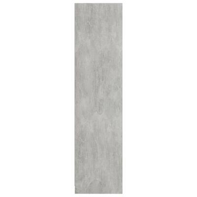 vidaXL Garderob betonggrå 100x50x200 cm spånskiva