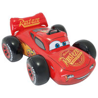 Intex Cars Uppblåsbar poolleksak röd 84x109x41 cm
