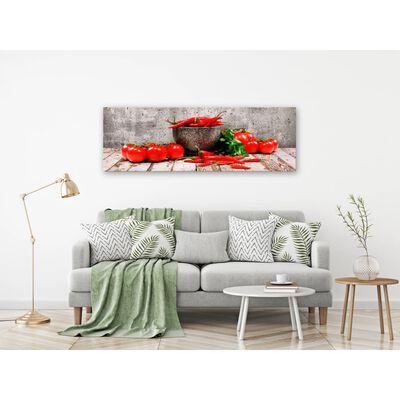 Tavla - Red Vegetables (1 Part) Concrete Narrow - 135x45 Cm