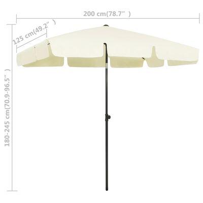vidaXL Strandparasoll gul 200x125 cm