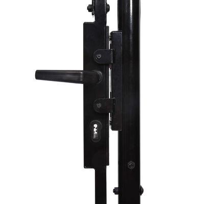 vidaXL Dubbelgrind med spetsig topp stål 3x2 m svart