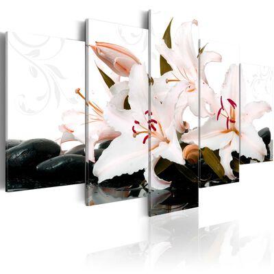 Tavla - Zen Stones And Lilies - 200x100 Cm