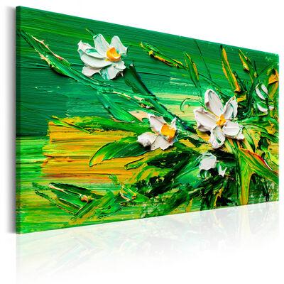 Tavla - Impressionist Style: Flowers - 120x80 Cm