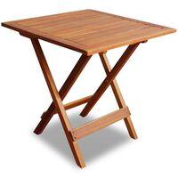 vidaXL Cafébord 46x46x47 cm massivt akaciaträ