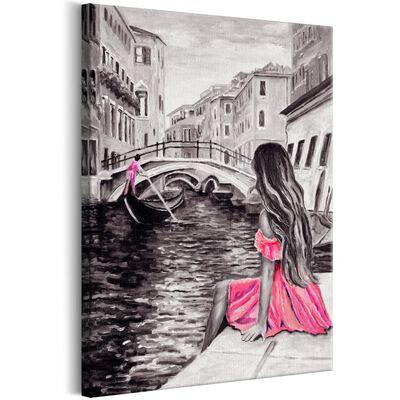 Tavla - Woman In Venice (1 Part) Vertical - 80x120 Cm
