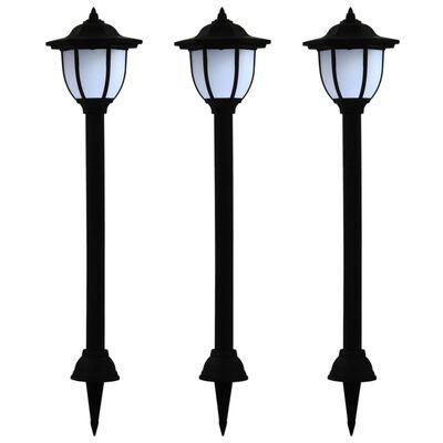 vidaXL Sollampa LED set 3 st svart