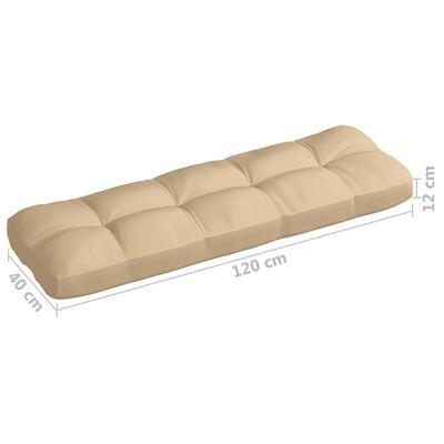 vidaXL Dyna till pallsoffa beige 120x40x12 cm