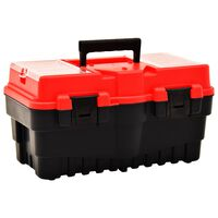vidaXL Verktygslåda plast 462x256x242 mm röd