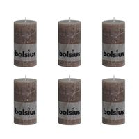 Bolsius Blockljus 130x68 mm 6-pack taupe