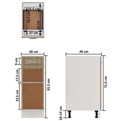 vidaXL Underskåp med låda sonoma-ek 30x46x81,5 cm spånskiva