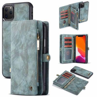 """Multiplånbok CaseMe 11-kort Apple iPhone 11 Pro Max (6.5"""") Blå"""