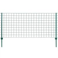 vidaXL Eurofence stål 20x0,8 m grön