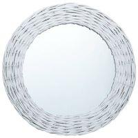 vidaXL Spegel vit 50 cm korgmaterial