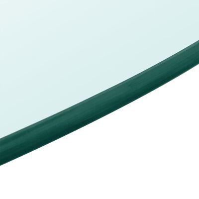 vidaXL Bordsskiva härdat glas rund 500 mm