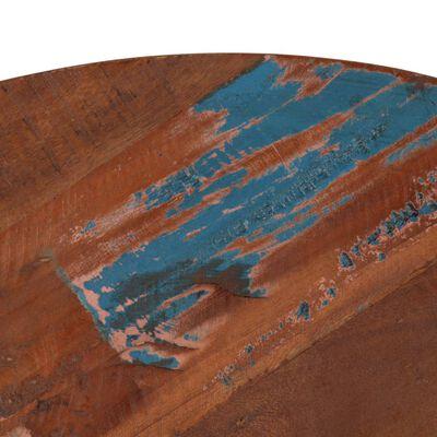 vidaXL Barbord massivt återvunnet trä 60x(76-110) cm