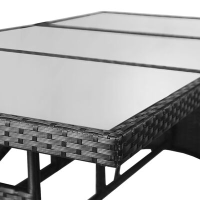 vidaXL Trädgårdsbord svart 170x80x74 cm konstrotting