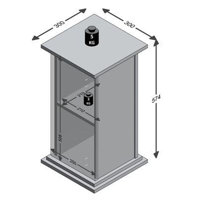 FMD Sidobord med dörr 57,4cm ek