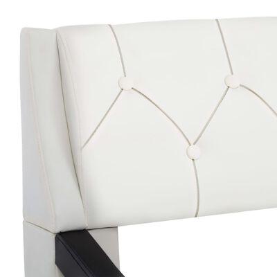 vidaXL Sängram vit och svart konstläder 120x200 cm