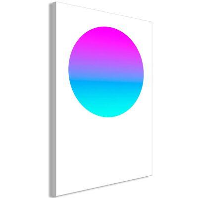 Tavla - Colourful Circle (1 Part) Vertical - 40x60 Cm