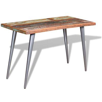 vidaXL Matbord massivt återvunnet trä 120x60x76 cm