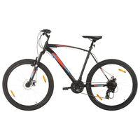 vidaXL Mountainbike 21 växlar 29-tums däck 58 cm ram svart