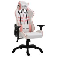 vidaXL Gamingstol rosa konstläder