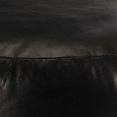 vidaXL Sittpuff svart 60x30 cm äkta getskinn