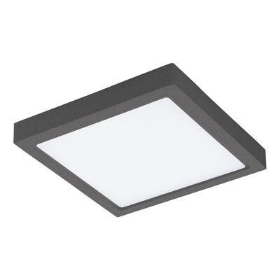 EGLO Vägg/taklampa för utomhusbruk LED Agrolis-C 22 W fyrkantig svart