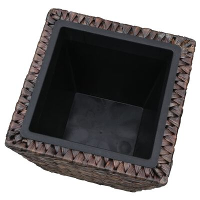 vidaXL Odlingslådor upphöjda 3 st vattenhyacint brun