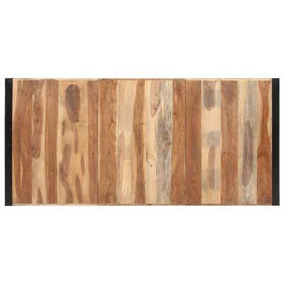 vidaXL Matbord 220x100x75 cm massivt trä med sheshamfinish