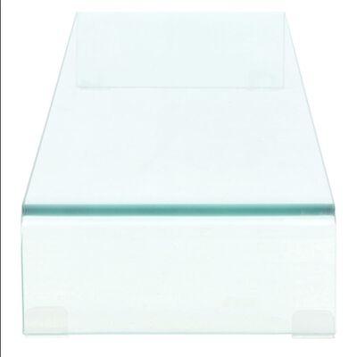 vidaXL TV-bord klarglas 110x30x13 cm