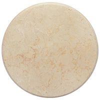 vidaXL Bordsskiva gräddvit Ø50x2,5 cm marmor
