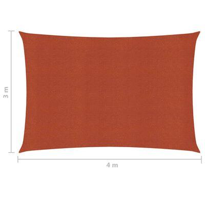 vidaXL Solsegel 160 g/m² terrakotta 3x4 m HDPE