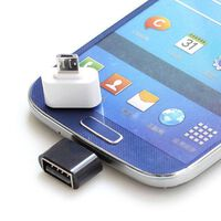 USB till MicroUSB OTG adapter - vit