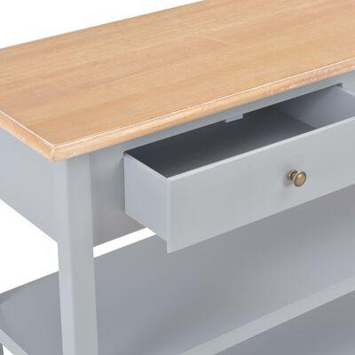 vidaXL Skänk grå 110x35x80 cm MDF, Grey