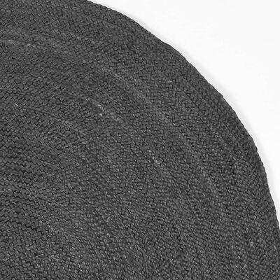 LABEL51 Matta Jute rund 150x150 cm XL antracit