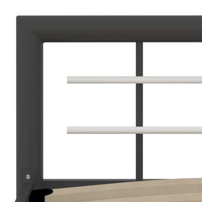vidaXL Sängram grå och vit metall 180x200 cm