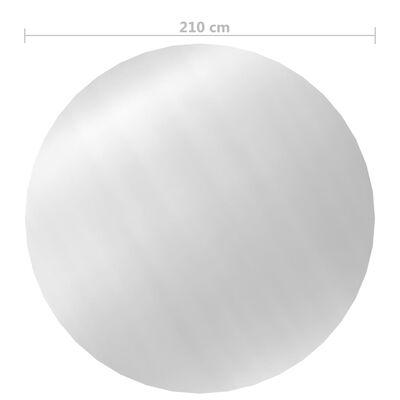 vidaXL Poolskydd silver 210 cm PE