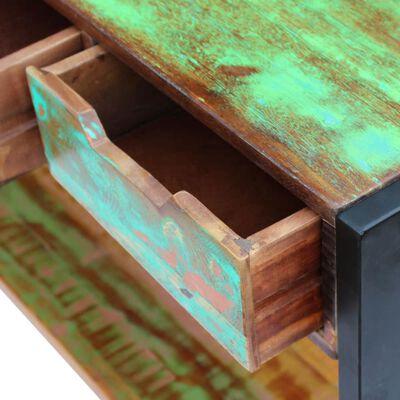 vidaXL Skänk med 3 lådor massivt återvunnet trä