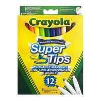 Crayola, 12x Tuschpennor - Super Tips