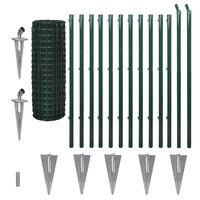 vidaXL Eurofence stål 25 x 1,2 m grön
