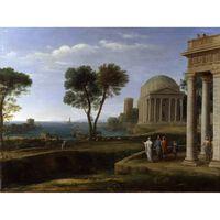 Landscape with Aeneas on Delos,Claude Lorrain,50x40cm
